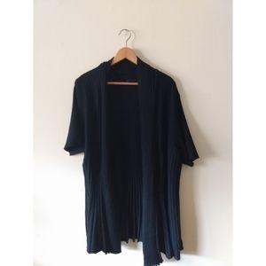 Lane Bryant Short Sleeve Cardigan 26/28 Black